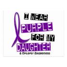 I Wear Purple For My Daughter 37 Epilepsy Postcard