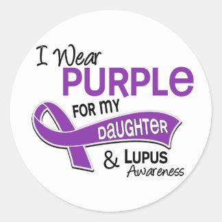 I Wear Purple For My Daughter 42 Lupus Classic Round Sticker