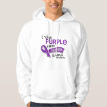 I Wear Purple For My Daughter 42 Lupus Hoodie