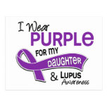 I Wear Purple For My Daughter 42 Lupus Postcard