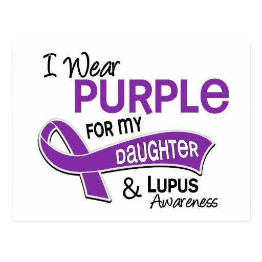 I Wear Purple For My Daughter 42 Lupus Postcard