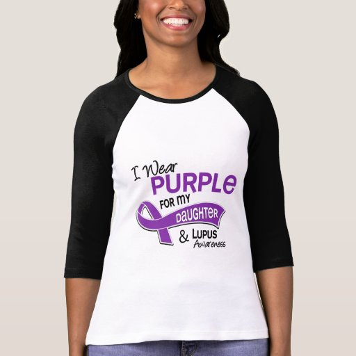 I Wear Purple For My Daughter 42 Lupus Tshirts