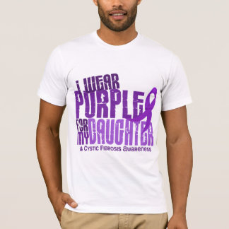 I Wear Purple For My Daughter 6.4 Cystic Fibrosis T-Shirt