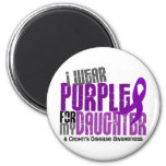 I Wear Purple For My Daughter 6 Crohn's Disease 2 Inch Round Magnet