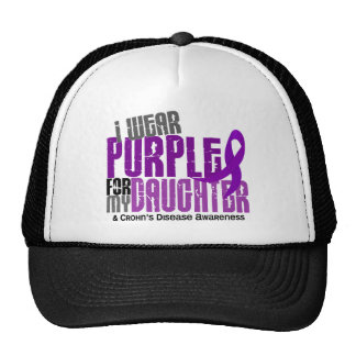 I Wear Purple For My Daughter 6 Crohn's Disease Hat
