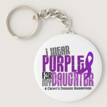 I Wear Purple For My Daughter 6 Crohn's Disease Keychain