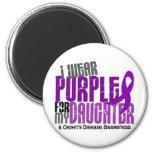 I Wear Purple For My Daughter 6 Crohn's Disease Fridge Magnets
