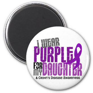 I Wear Purple For My Daughter 6 Crohn's Disease Magnet