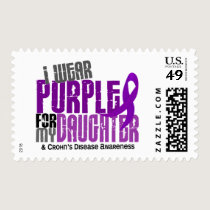 I Wear Purple For My Daughter 6 Crohn's Disease Postage