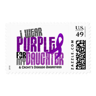 I Wear Purple For My Daughter 6 Crohn's Disease Postage Stamp