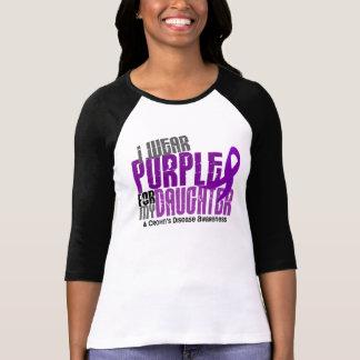 I Wear Purple For My Daughter 6 Crohn's Disease T-Shirt