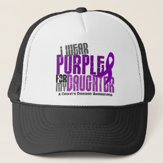 I Wear Purple For My Daughter 6 Crohn's Disease Trucker Hat