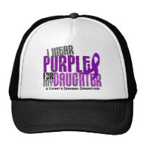 I Wear Purple For My Daughter 6 Crohn's Disease Trucker Hat