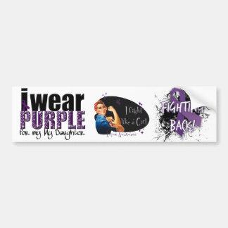 I Wear Purple For My Daughter Bumper Sticker