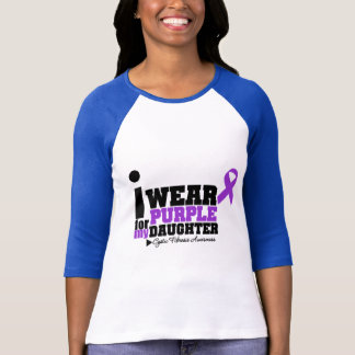 I Wear Purple For My Daughter Cystic Fibrosis T-Shirt