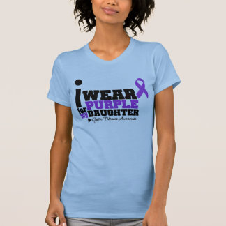 I Wear Purple For My Daughter Cystic Fibrosis Shirts