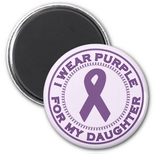 I Wear Purple For My Daughter Fridge Magnets
