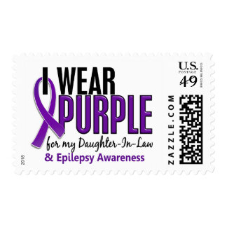 I Wear Purple For My Daughter-In-Law 10 Epilepsy Postage