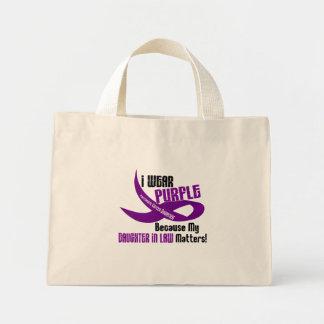 I Wear Purple For My Daughter-In-Law 33 Apparel Mini Tote Bag