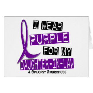 I Wear Purple For My Daughter-In-Law 37 Epilepsy Greeting Card