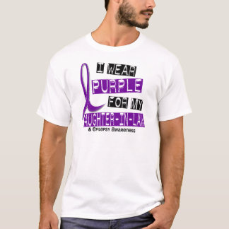 I Wear Purple For My Daughter-In-Law 37 Epilepsy T-Shirt
