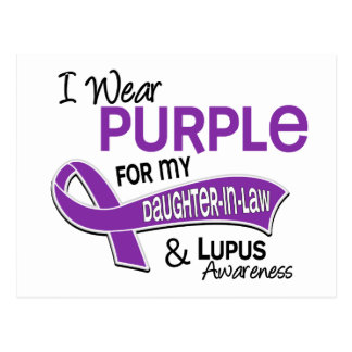 I Wear Purple For My Daughter-In-Law 42 Lupus Postcard