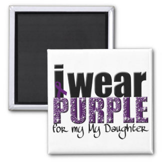 I Wear Purple For My Daughter Refrigerator Magnet