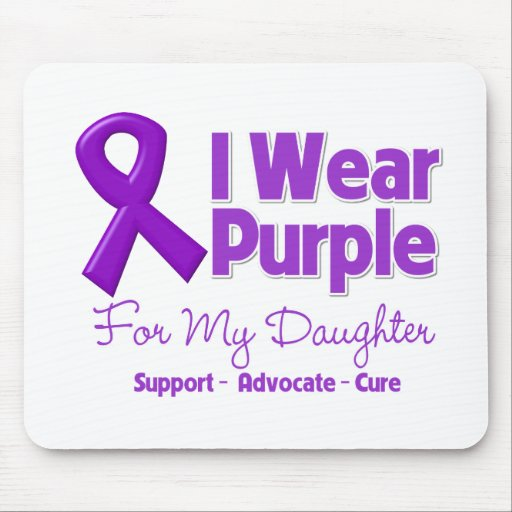 I Wear Purple For My Daughter Mouse Pad
