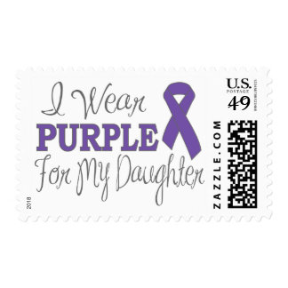 I Wear Purple For My Daughter (Purple Ribbon) Postage