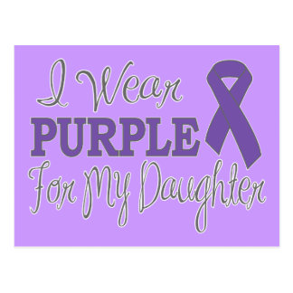 I Wear Purple For My Daughter (Purple Ribbon) Post Card