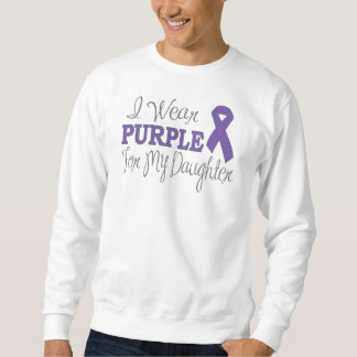 I Wear Purple For My Daughter (Purple Ribbon) Sweatshirt