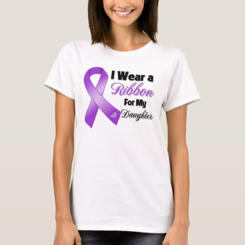 I Wear Purple For My Daughter T_Shirt