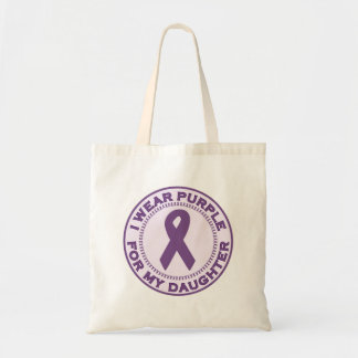 I Wear Purple For My Daughter Tote Bag