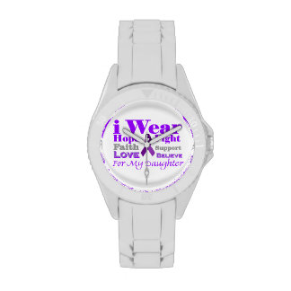 I Wear Purple for my Daughter Watch