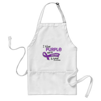 I Wear Purple For My Father 42 Lupus Adult Apron