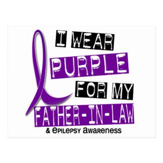 I Wear Purple For My Father-In-Law 37 Epilepsy Postcard