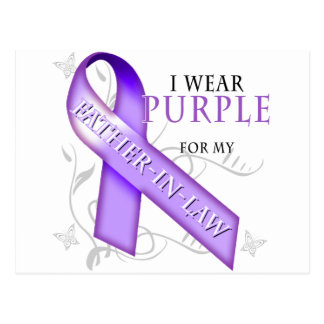 I Wear Purple for my Father-In-Law Postcard