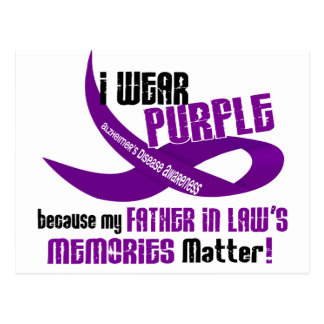 I Wear Purple For My Father-In-Law's Memories 33 Postcard