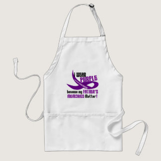 I Wear Purple For My Father's Memories 33 Adult Apron