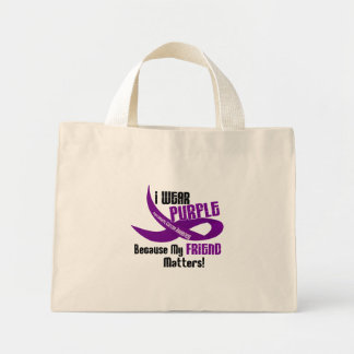 I Wear Purple For My Friend 33 PANCREATIC CANCER Mini Tote Bag