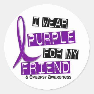 I Wear Purple For My Friend 37 Epilepsy Classic Round Sticker