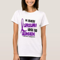 I Wear Purple For My Friend 37 Epilepsy T-Shirt