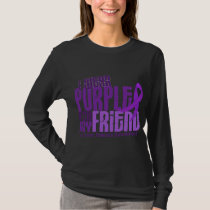 I Wear Purple For My Friend 6.4 Cystic Fibrosis T-Shirt
