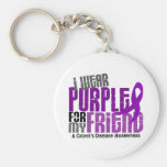 I Wear Purple For My Friend 6 Crohn's Disease Keychains