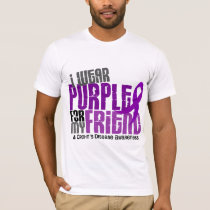 I Wear Purple For My Friend 6 Crohn's Disease T-Shirt