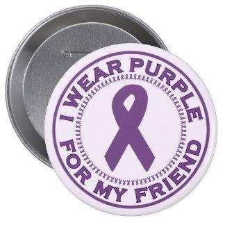 I Wear Purple For My Friend Pinback Button