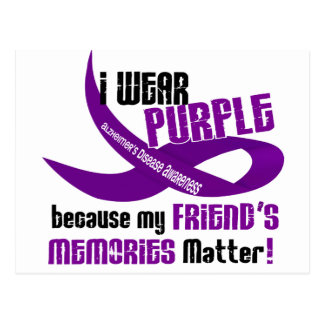 I Wear Purple For My Friend's Memories 33 Postcard