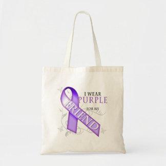 I Wear Purple for my Friend Tote Bag
