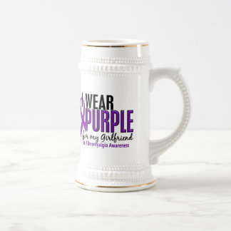 I Wear Purple For My Girlfriend 10 Fibromyalgia Beer Stein