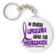 I Wear Purple For My Girlfriend 37 Epilepsy Keychain